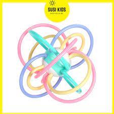 Đồ Chơi Trẻ Em Cho Bé Sơ Sinh 3 6 12 tháng Kiêm Gặm Nướu Hình Quả Cầu Nhiều  Màu Sắc Kích Thích Thị Giác - Susi Kids chính hãng