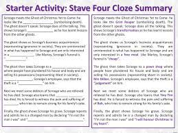 Thephantom slowly, gravely, silently, approached. Starter Activity Stave Four Cloze Summary Ppt Download