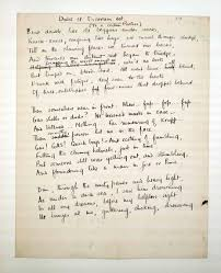 first world war inspired innovative art world war i a draft of the poem dulce et decorum est written by first world