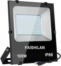 110 Volt Led Work Lights Faishilan 100w Led Flood Light 500w Halogen Equivalent Led Work Light Waterproof Ip66 Outdoor Flood Lights Super Bright Led Backyard Lights For