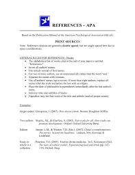 References Apa Print Sources