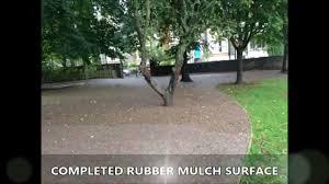 q26 360 premium rubber bonded mulch installation