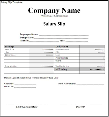 Payroll Receipt Template Gorgeous Image Result For Salary Slip Format Without Any Deduction