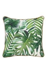 bamboo leaf print cushion