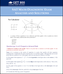 congratulations on your purchase of the solution guide to the sat math diagnostic test