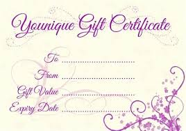 Younique Gift Certificate Template Template Younique Gift Certificate Epp Acp Info
