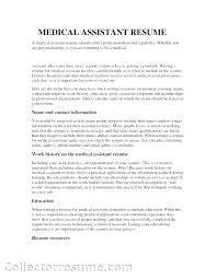 Medical Assistant Resume Objective Samples Familycourt Us