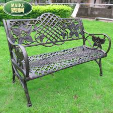 get quotations double chair leisure chair outdoor park plaza chairs cast aluminum garden chairs garden chairs wrought iron