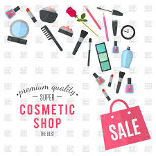 make up concept with cosmetic bag vector image vector ilration of beauty fashion to zoom