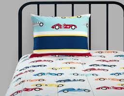 better homes and gardens kids race car comforter set twin new
