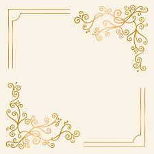 Golden Invitation Card Design Golden Vintage Ornament Frame Vector Free Image By