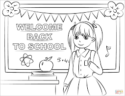 quality welcome back to school coloring pages page free