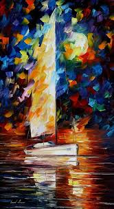 boat paintings on canvas