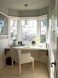 cottage office. Home Office , Atmospheric Cottage Style : With Bay Window I