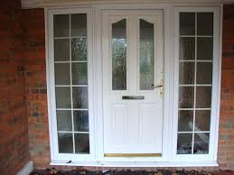 front door half glass white half glass front door with frame double glazed style side front