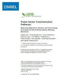 Power Sector Transformation Pathways Paper Publication Release!