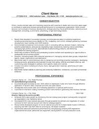 Resume Objective For Customer Service And Sales Best Sales Resume