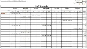 Employee Training Schedule Template Excel Work Word Staffing