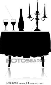 restaurant table clipart. Delighful Table Clipart  Romantic Restaurant Table Fotosearch Search Clip Art  Illustration Murals Drawings To Restaurant Table T