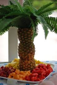 Fruit Tree Display  This Pineapple Palm Tree Fruit Display Is An Fresh Fruit Tree Display