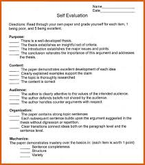 self evaluation essay summary example power point help thesis  self evaluation essay example for