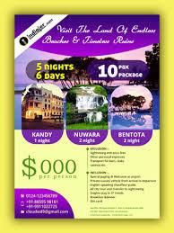 Free Srilanka Travel Flyer Psd Template Indiater