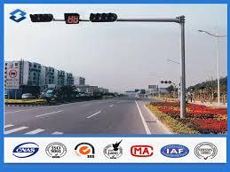 Traffic Light Pole 3mm Thickness Polygonal Traffic Light Pole Hot Dip