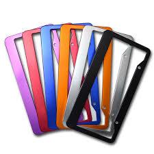 <b>2pcs</b>/set <b>Universal</b> Aluminum <b>Car</b> Styling <b>License</b> Plate Frame ...