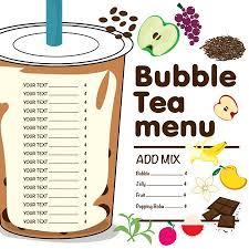 Bubble Tea Menu Graphic Template Royalty Free Vector Graphics