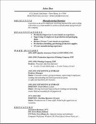 Manufacturing Operator Resume, Occupational:examples,samples Free edit with  word