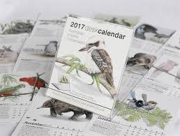 2017 desk calendar australian wildlife conservation animals birds ilration