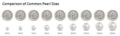 10mm Size Chart Pearl Size Comparison Pearls Com