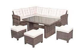 nevada rattan garden furniture corner sofa dining set