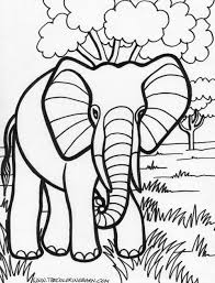 Small Picture Big Elephant Coloring Pages anfukco