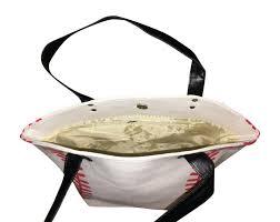 baseball tote bag white red best baseball mom purse
