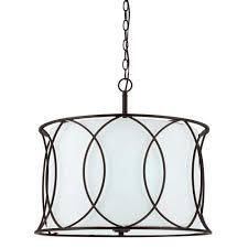 canarm monica 3 light oil rubbed bronze chandelier