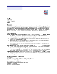 Military To Civilian Resume Examples Resume Work Template