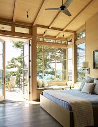Fabulous rustic window nook ideas Bay Window Love This Contemporary Master Bedroom With High Wood Ceiling And Fabulous Reading Window Nook With Home Stratosphere Wow 101 Sleek Modern Master Bedroom Ideas 2019 Photos
