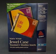 avery template 8965 avery cd dvd jewel case inserts for ink jet printers white pack of
