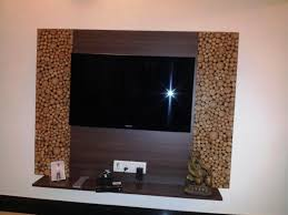 Latest Living Room Wall Designs Unique Wall Designs Wood Block Feature Wall Recessed Lighting