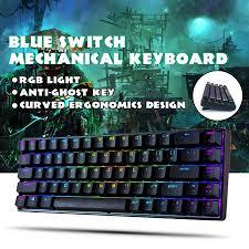 <b>MAGIC _ REFINER MK14</b> RGB Mechanical Keyboard 68 Key Blue ...