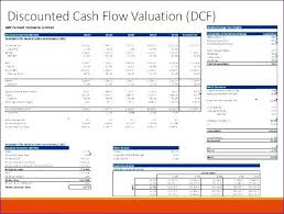 Cash Flow Model Excel How To Find Discounted Cash Flow Valuation Excel Example