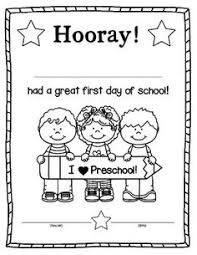 Small Picture FREE editable coloring page for the first day of school Preschool