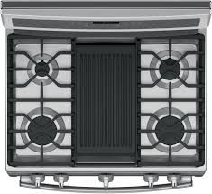 GE PGB911ZEJSS 30 Inch Freestanding Gas Range with Chef Connect