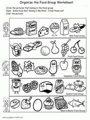 Download and print as many times as you want. Healthy Food Coloring Pages Food Groups