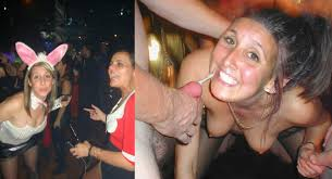 Drunk girl gangbanged at party
