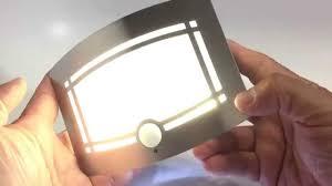 intsun pir led hallway closet light battery powered motion sensor wall sconce unboxing you