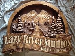 custom made custom made wooden signs hand carved by scott home business