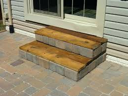 how to build free standing wooden steps wood patio cedar