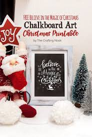 these adorable free chalkboard art christmas printables will rock your frames 4 designs to choose from and believe in the magic of christmas